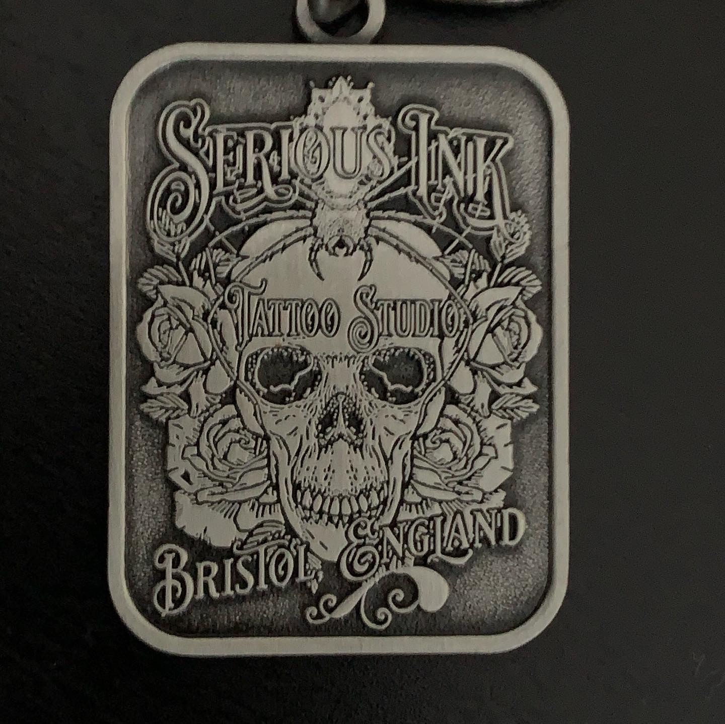 Serious Ink metal Keyring